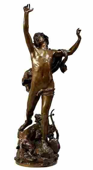 Charles Raoul Verlet La Douleur D'orphee Bronze