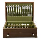 Wallace Grand Baroque Sterling Silver Flatware Set