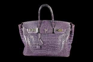 Estate Hermes Birkin Bag in Aubergine