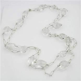 "Long 70"" Semi Precious Gemstone Necklace"