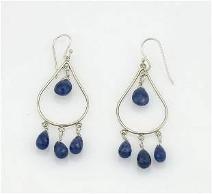 Semi Precious Gemstone Briolette Dangle Earrings
