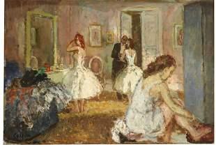Jean Louis Marcel Cosson (1878-1956) Oil on Board