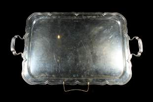 English Sterling Silver Serving Tray