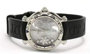 "Chopard ""Happy Sport Snowflake"" Diamond Watch"