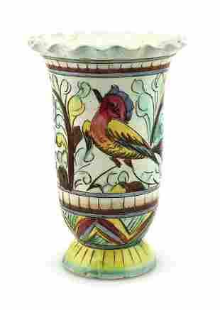 Hand Painted Porcelain Bird Vase