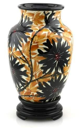 Hand Painted Porcelain Floral Vase