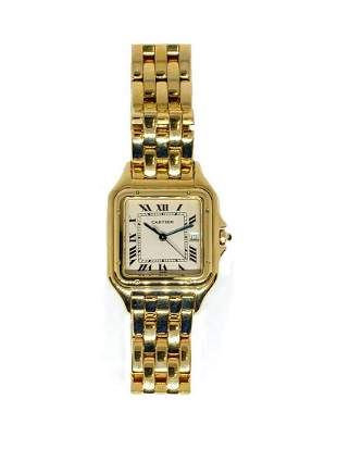 18K YG Cartier Panthere Lds Mid-Size