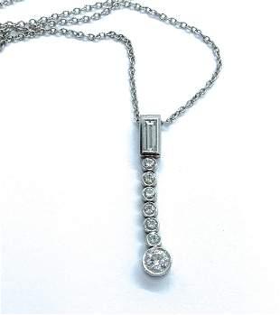 Tiffany & Co Platinum Diamond Jazz Necklace