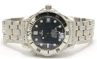 """Omega """"Seamaster"""" Stainless Steel Watch"""