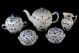 Vintage Set of Royal Copenhagen Blue/White Fine China
