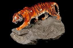 Estate Royal Doulton Tiger on Rock