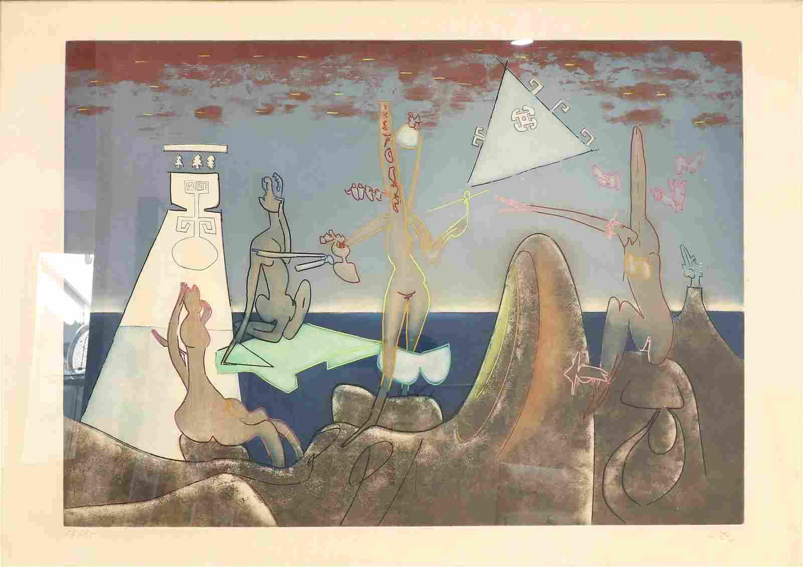 Roberto Matta (CHILEAN, 1911-2002) Aquatint Etching