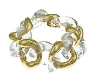 Seaman Schepps 18K Rock Crystal Classic Link Bracelet