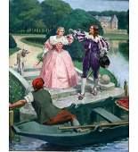 """Georges Pierre Dutriac """"La Promenade en Barque"""""""