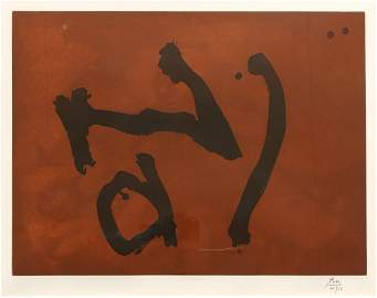 Robert Motherwell (AMERICAN, 1915-1991)Signs on Copper
