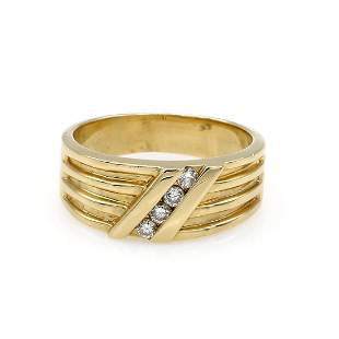 14K Yellow Gold Fancy Diamond Band
