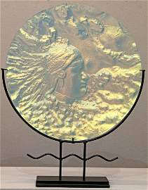Peggy  Pettigrew Stewart Hopi Blown Glass Plate