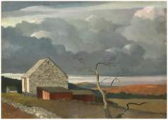Landscape Oil on Board Attributed to Eric Sloane