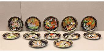 Lot of 12 Bjorn Wiinblad Rosenthal Aladin Plates