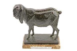 Heinrich Karl Scholz (1888-1937) Bronze of a Lamb