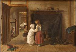 Frederick Daniel Hardy (British, 1826-1911) Oil on