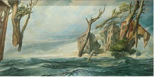 Samuel Bak (Israeli/Polish, 1933) Oil on Canvas