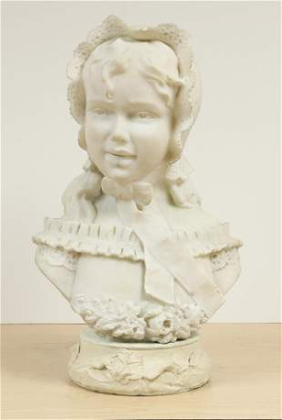 Unsigned Marble Bust Sculpture