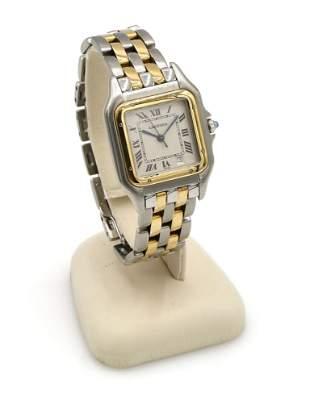 Stainless / 18K YG Cartier Panthere Quartz Watch