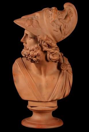E.F. Sonne Terracotta Bust Sculpture