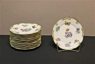 Set of 13 Herend Queen Victoria Salad Plates