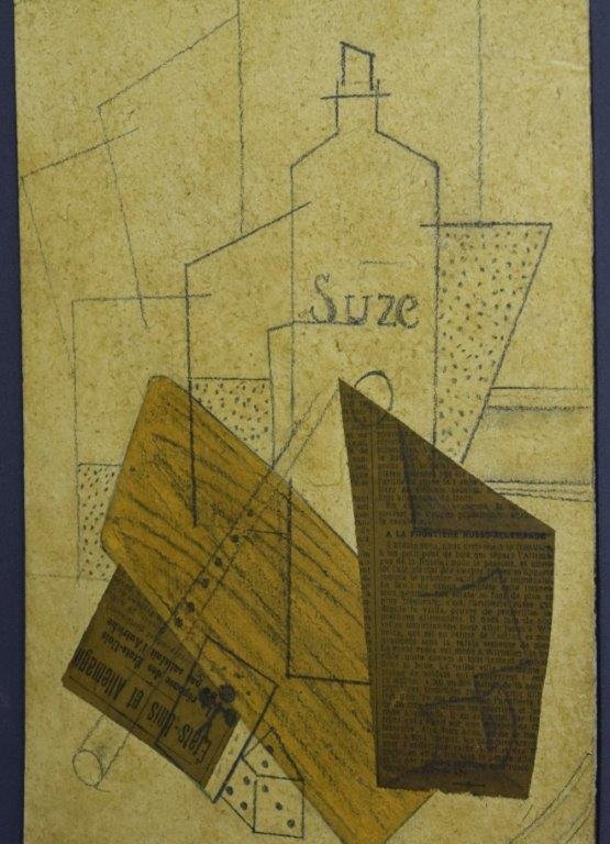 Attributed to Georges Braque, Collage (Acquired 1970's)