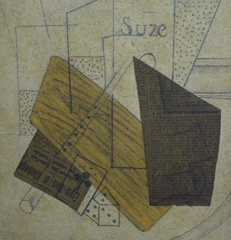 Attributed to Georges Braque, Collage (Acquired 1970's) - 2
