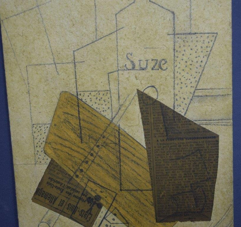 Attributed to Georges Braque, Collage (Acquired 1970's) - 3