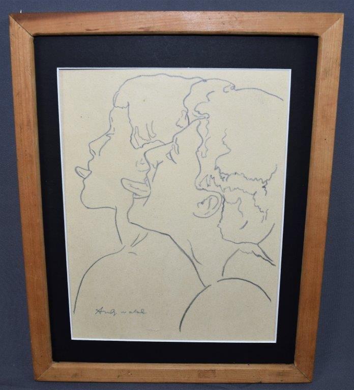 Andy Warhol, Untitled Drawing, (Molly Barnes Gallery)
