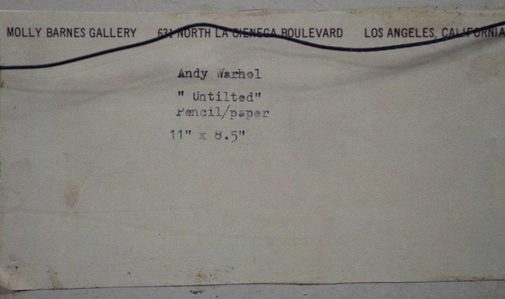 Andy Warhol, Untitled Drawing, (Molly Barnes Gallery) - 5