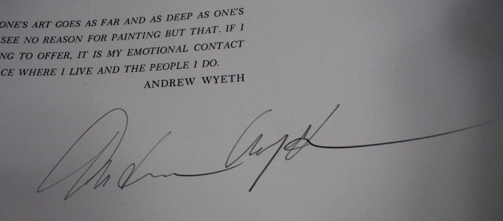"Andrew Wyeth, Signed Book, ""The Work of Andrew Wyeth"" - 4"