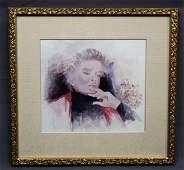 Self Portrait Print in Color Katharine Hepburn Estate