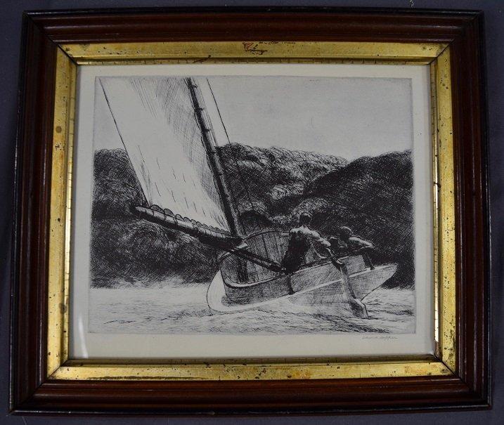Edward Hopper, (The Cat Boat)