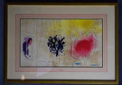 Marc Chagall Le Coq Rouge Lithograph
