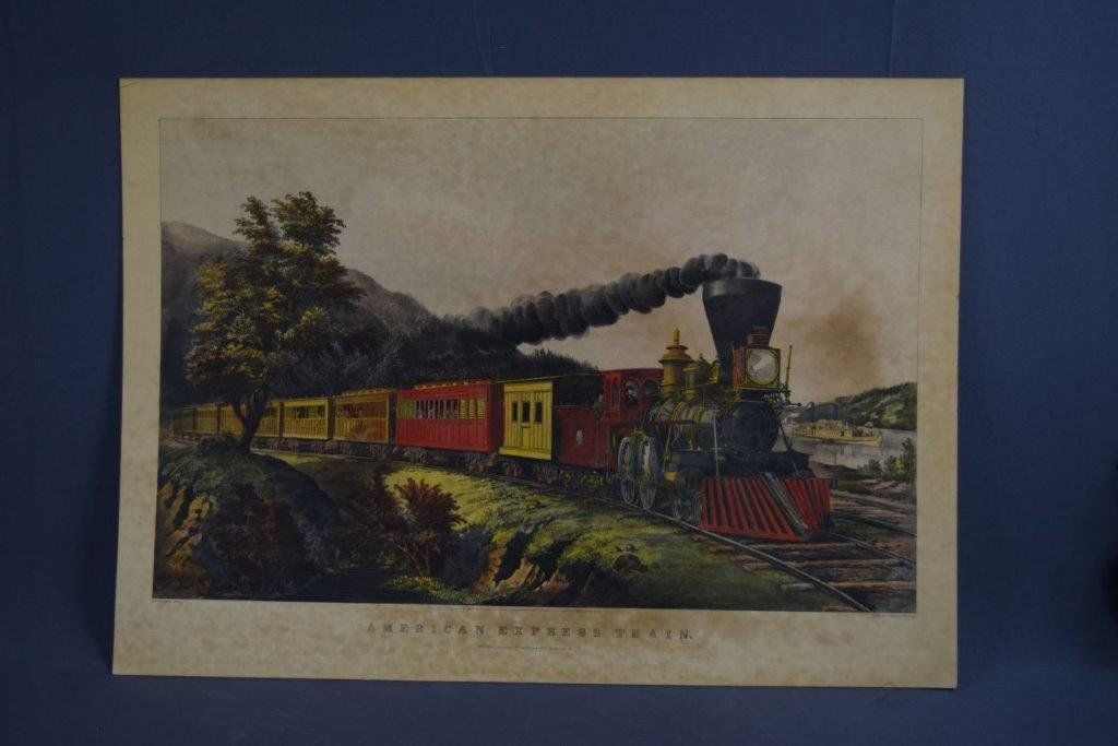 Currier & Ives, American Express Train (Lithograph)