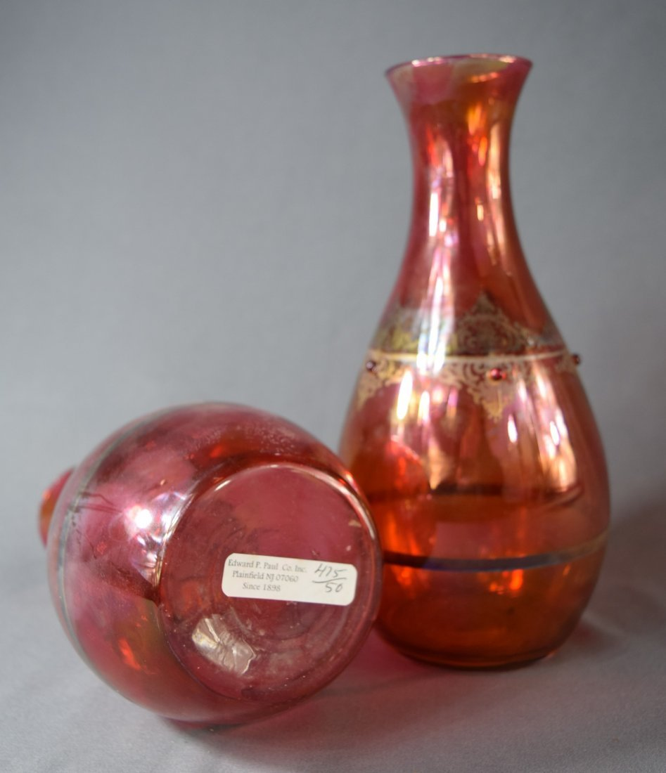 Murano, Red Glass Vases (lot of 2) - 2