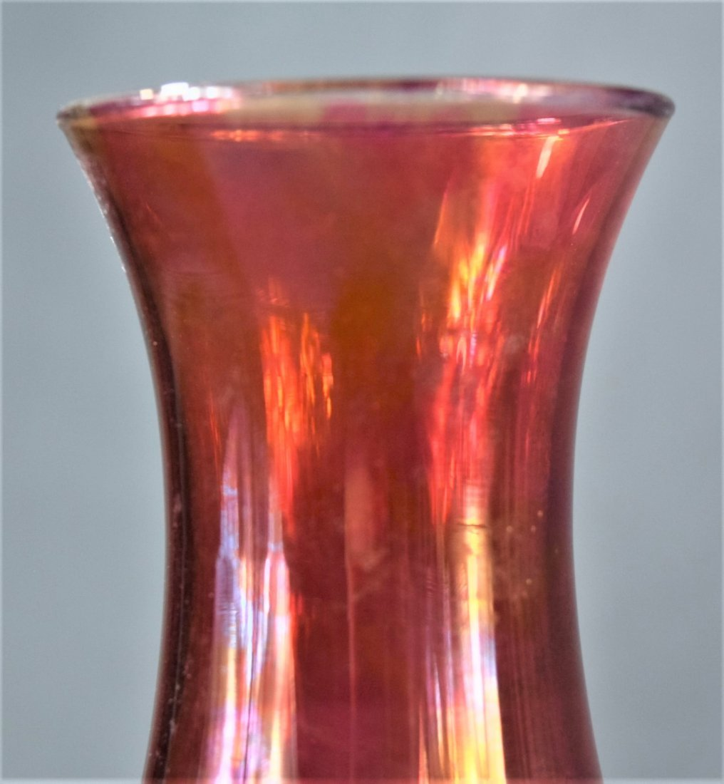 Murano, Red Glass Vases (lot of 2) - 7