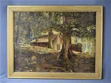 Walter Elmer Schofield, O/C (Swann Galleries)