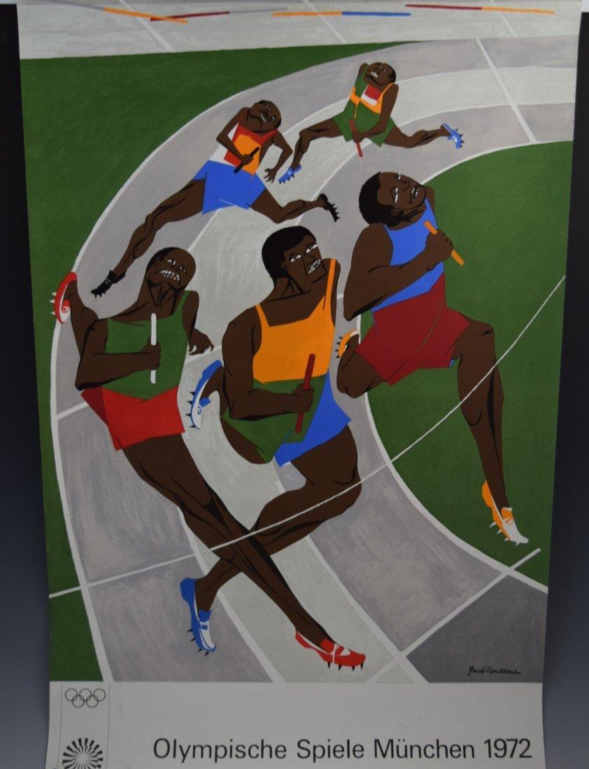Jacob Lawrence Olympics 1972 Screenprint