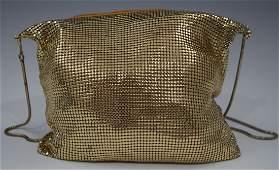 Vintage Ladies Mesh Purse Gold Design