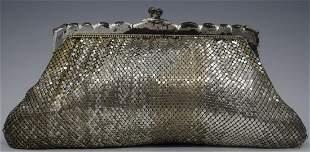 Vintage Whiting Davis Mesh Clutch Silver Design