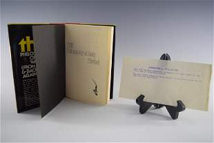 The Philosophy of Andy Warhol, 1st ed. Signed (Book)