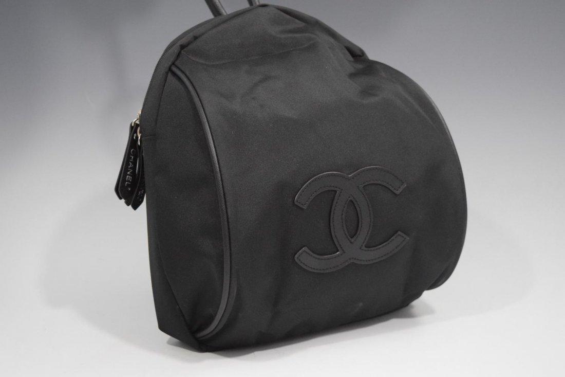 Chanel, Black Nylon Backpack (VIP)