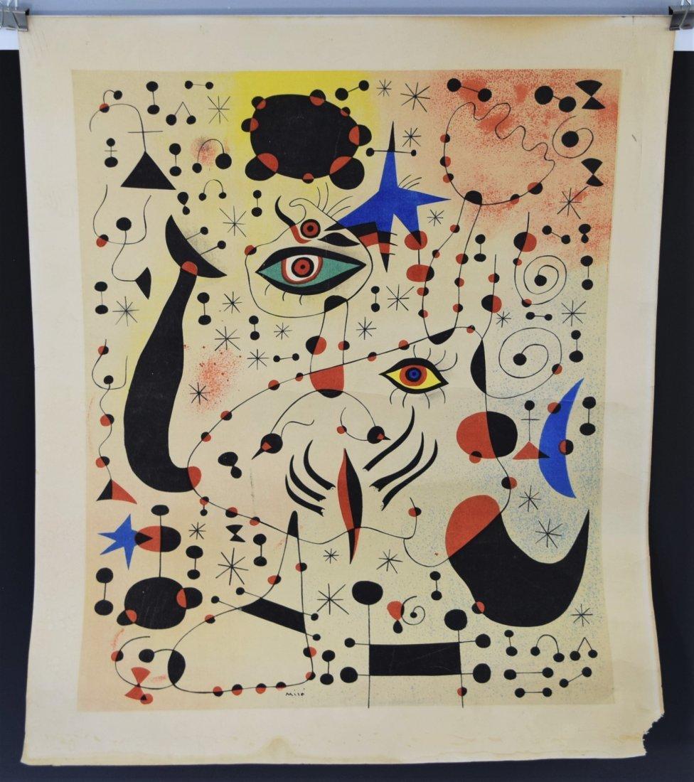 Joan Miro, Lithograph (Plate Signed)