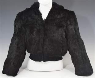 Neiman Marcus Rabbit Fur Coat Womens